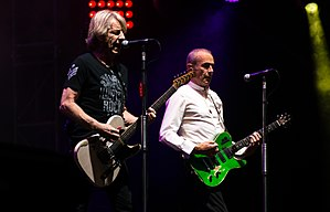 Rick Parfitt (left) and Francis Rossi performing in 2015
