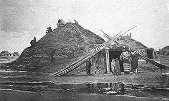Pawnee people - Pawnee lodges near Genoa, Nebraska (1873)