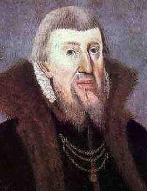 Peder Skram - Portrait of Peder Skram by unknown artist