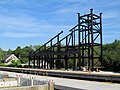 Pedestrian bridge construction at South Acton, June 2015.JPG