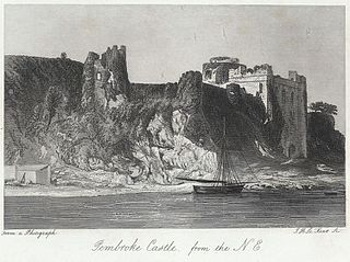 Pembroke Castle, from the N.E