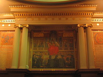Supreme Court of Pennsylvania - Mural on the wall of the Pennsylvania Supreme Court's chambers in the Pennsylvania State Capitol