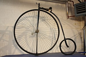 Wire wheel - Wire wheels on a penny-farthing