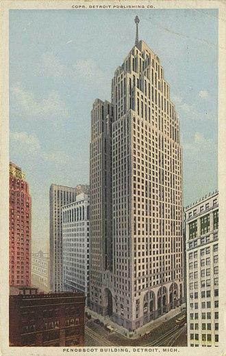 Penobscot Building - Penobscot Building on a postcard