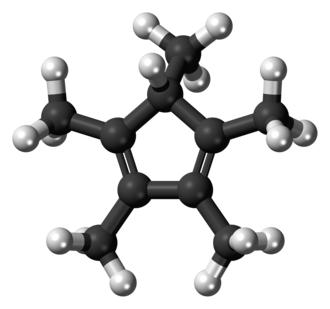 Pentamethylcyclopentadiene - Image: Pentamethylcyclopent adiene molecule ball