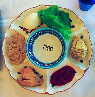 Passover Seder plate A plate of symbolic food for Passover