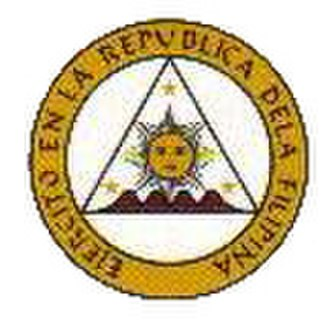 Philippine Revolutionary Army - Ejercito en la República dela Filipina Emblem, 1897