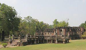 Phimai Historical Park - Image: Phimai naga staircase