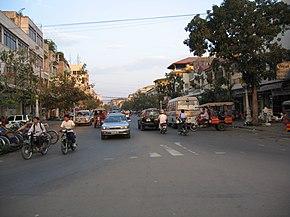A street scene in the city centre