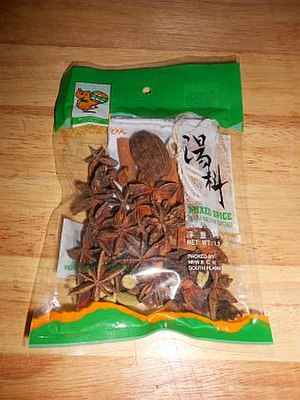 Pho - A typical pho spice packet, sold at many Asian food markets, containing a soaking bag plus various necessary dry spices. The exact amount differs with each bag.