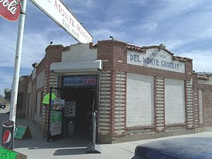 Laveen, Arizona - The Del Monte Market built in 1908 and located at 2659 W. Dobbins Road. It is the oldest continuously operating market in the state. Designated as a landmark with Historic Preservation-Landmark (HP-L) overlay zoning (Phoenix Historic Property Register).