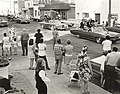 Photograph of cars taking part in the Centennial Parade held in Deseronto, Ontario, on Thursday, 17th June, 1971. Taken on Main Street, in front of the Legion. (5037216480).jpg