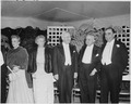 Photograph of the President and Mrs. Truman with Brazilian President Eurico Dutra and other dignitaries, in formal... - NARA - 200125.tif