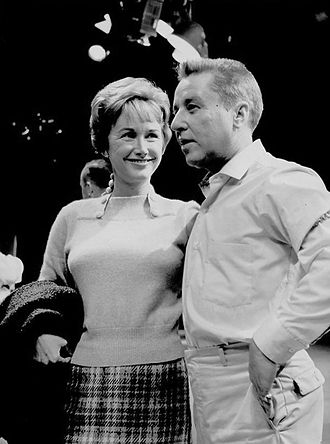 Phyllis Avery - Avery with George Gobel on his television show, 1958–59 season.