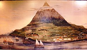 Mount Pico - An image of the island of Pico, showing Mount Pico (1848)