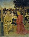 Piero, San Girolamo e il donatore Girolamo Amadi, venezia, accademia, 1440-50 49x42.jpg