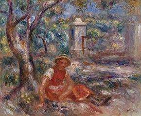 Girl at the Foot of a Tree (Fillette au pied d'un arbre)