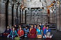 Pilgrims - Ajantra caves (Maharastra, India) (33543997992).jpg