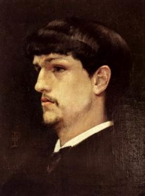 Henri Pinta - Portrait of Claude Debussy (1886)