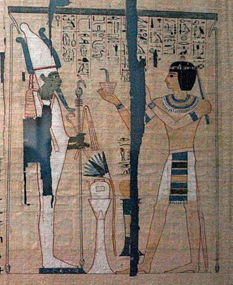 High priest - Pinudjem II as Theban High Priest of Amun. From his Book of the Dead.