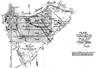 Piotrkowska Street - Map of the city, 1823
