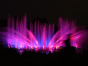 Planten un Blomen - Water-light concert at Planten un Blomen