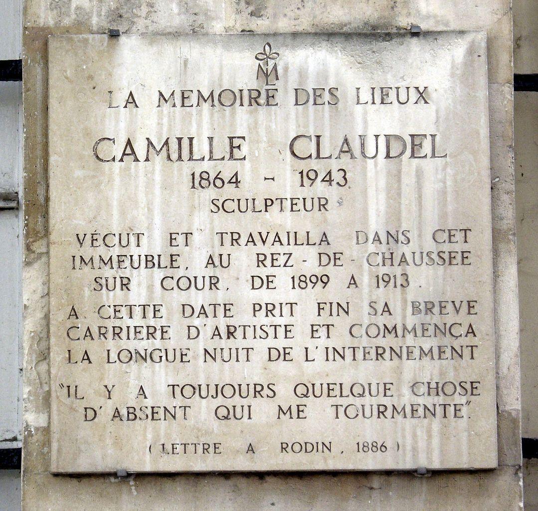 Camille Claudel: File:Plaque Camille Claudel, 19 Quai De Bourbon, Paris 4