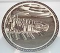 Plate with scene of Lower Manhattan from the 'Our America' series, Vernon Kilns, Wolfsonian-FIU Museum.JPG