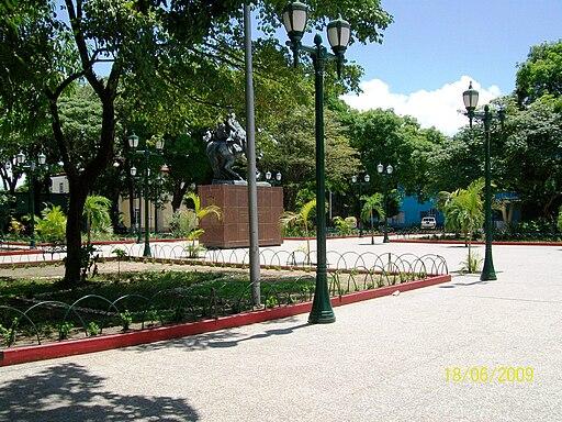 Plaza de Bolívar en Puerto Ayacucho. Amazonas Venezuela