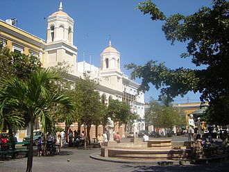 Plaza de Armas, San Juan - Plaza de Armas, San Juan, with City Hall in the background