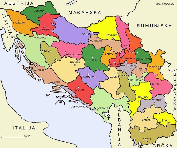 Granice Srbije i Kosova kroz vrijeme 717px-Podjela_Kraljevine_SHS_na_33_oblasti