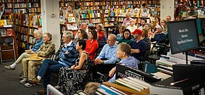 Politics and Prose - A crowd listens to a book reading at the store.