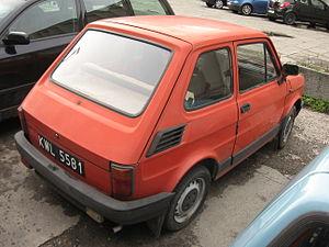Polski Fiat 126 BIS on Rotmistrza Zbigniewa Dunin-Wąsowicza street in Kraków (1).jpg