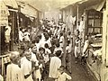 Poor people in Calcutta form a line to buy kerosene in 1945.jpg