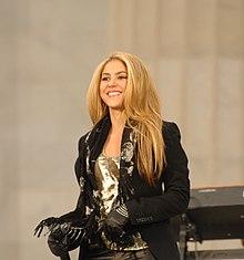 Shakira canta al Lincoln Memorial di Washington D.C. nel 2009
