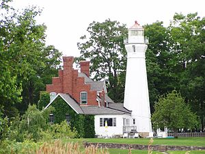 The Thumb - Lighthouse at Port Sanilac on Lake Huron