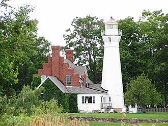 The Thumb - Lighthouse at Port Sanilac on Lake Huron