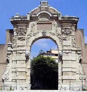 Real Cittadella - Porta Grazia, now relocated to Piazza Casa Pia dei Poveri