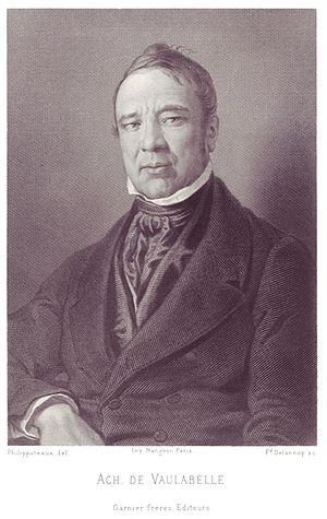Achille Tenaille de Vaulabelle - Image: Portrait d'Achille de Vaulabelle