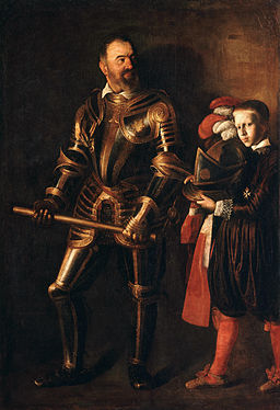 Portrait of Alof de Wignacourt and his Page-Caravaggio (1607-1608)