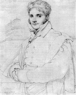 Merry-Joseph Blondel - Blondel by his friend Ingres, Rome, 1809.