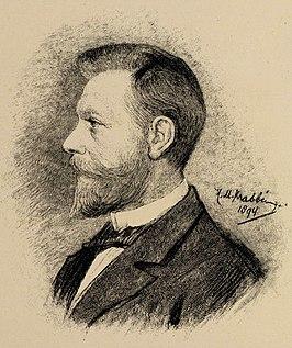 Portret van Wijsmuller door H.M. Krabbé (1894)