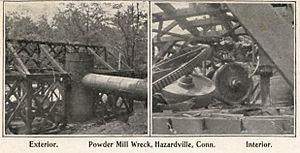 Hazard Powder Company - Powder mill wreckage, c. 1906