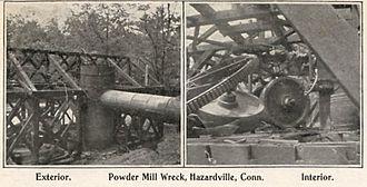 Hazardville, Connecticut - Powder mill wreckage, c. 1906