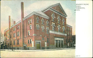 Massey Hall - Postcard of Massey Hall, circa 1910