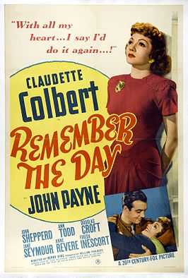 Aanplakbiljet voor Remember the Day