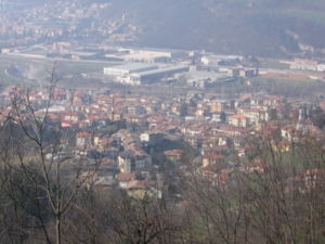 A view over the town of Pradalunga