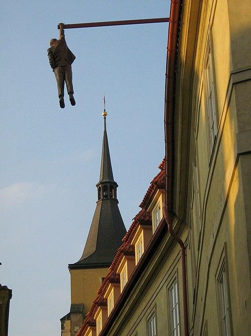 Prague, Sigmund Freud hanging