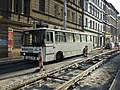 Praha, Radlice, rekonstrukce tramvajové trati, náhradní autobusová doprava.jpg