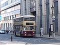 Preserved bus on Edmund Street, Birmingham, 2 May 2011.jpg